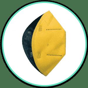 Icono mascarilla airnatech amarillo